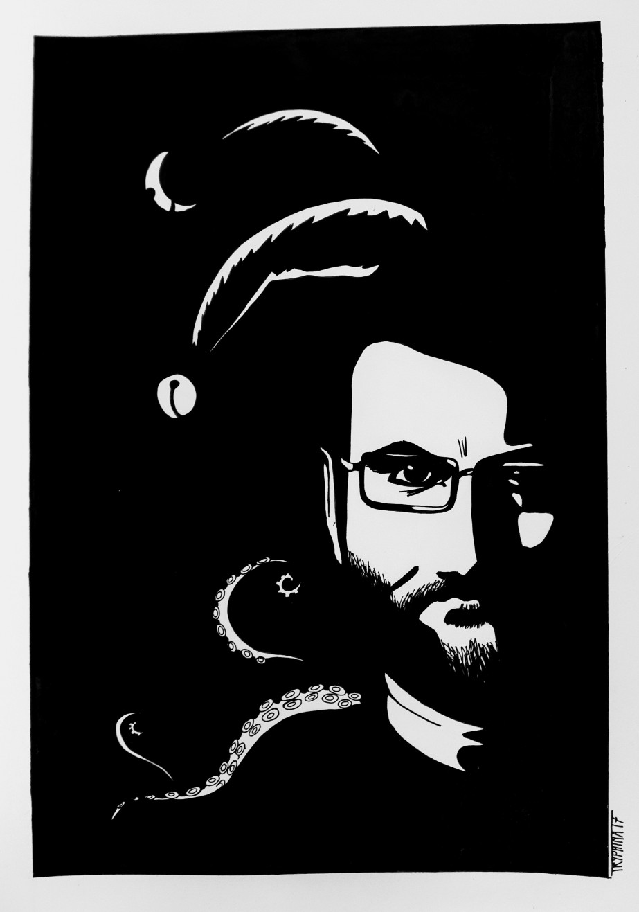 Portrait of harry hinterbuchinger as a dark jester.