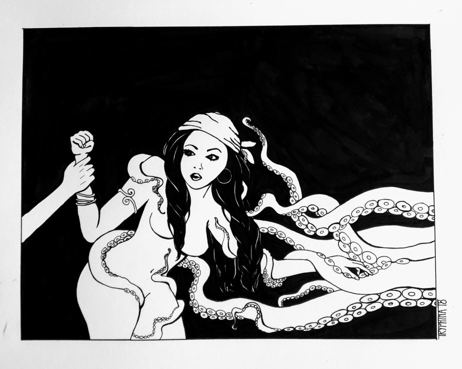 elaine marley with tentacles