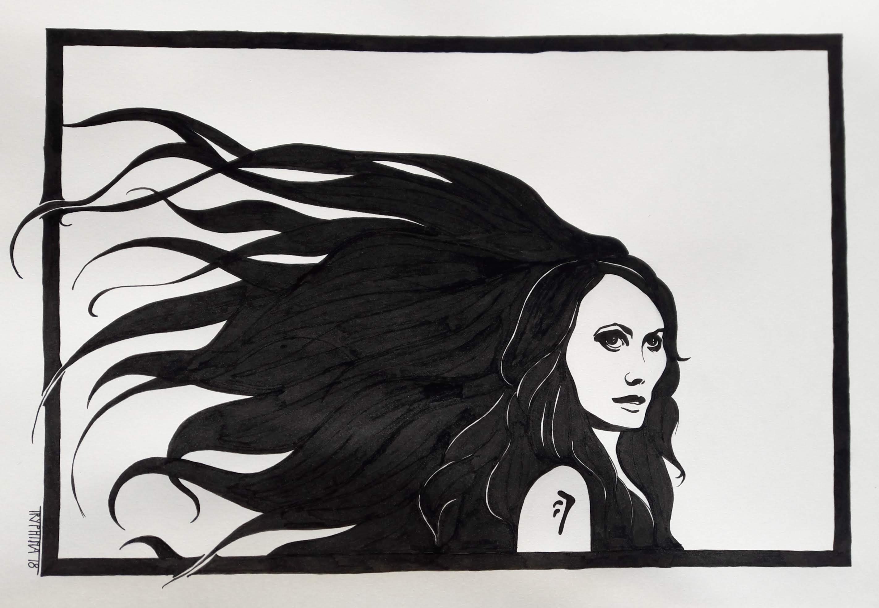portrait of amara/the darkness from the series supernatural