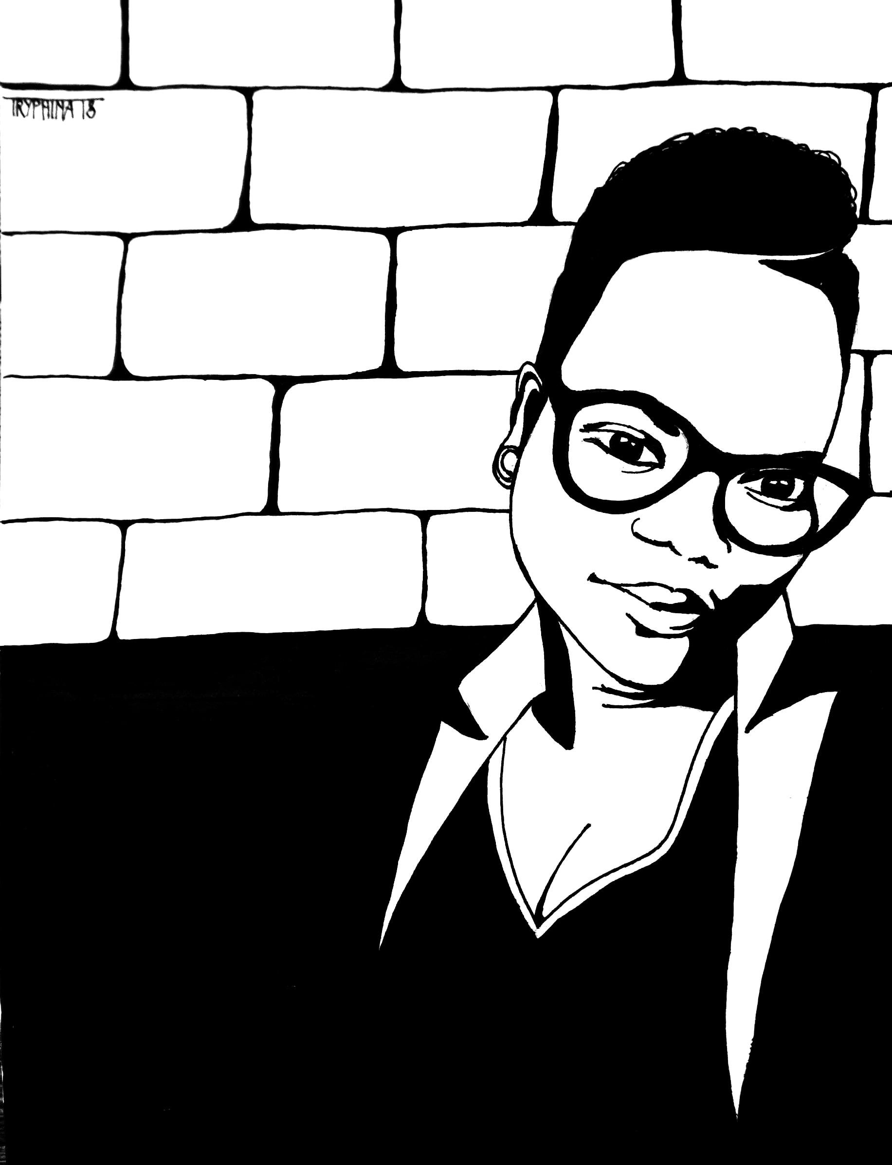 portrait of spoken word artis flow/ronamber deloney